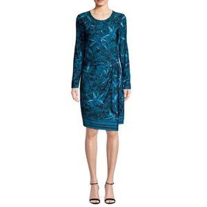 NWY H by Halston Wrap Front Jersey Dress Size XS